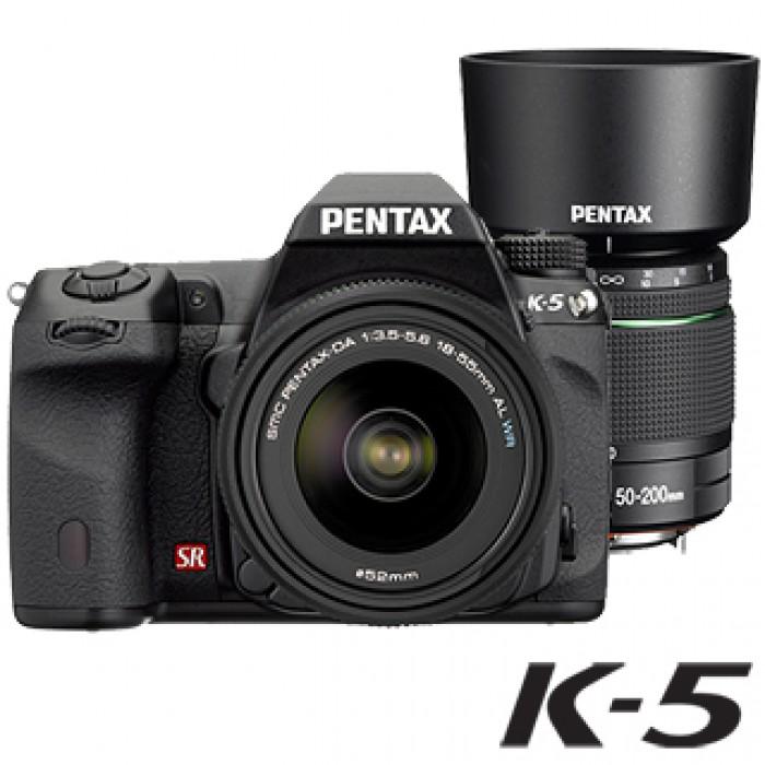 K-5 +DA18-55 WR+DA50-200WR雙鏡組